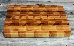 Maple End Grain Cutting Board - Everwood endgrain, Cutting Boards - End grain butcher block cutting board, Everwood Handcrafts - Everwood Handcrafts