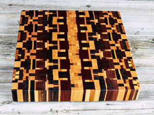 Kaleidoscope #83 - Everwood endgrain, Cutting Boards - End grain butcher block cutting board, Everwood Handcrafts - Everwood Handcrafts