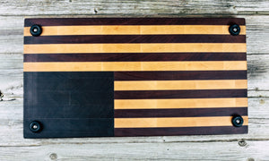 America Flag #69 - Everwood endgrain, Cutting Boards - End grain butcher block cutting board, Everwood Handcrafts - Everwood Handcrafts