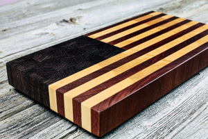 American Flag #22 - Everwood endgrain, Cutting Boards - End grain butcher block cutting board, Everwood Handcrafts - Everwood Handcrafts