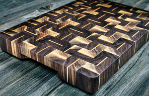 Black Walnut #64 - Everwood endgrain, Cutting Boards - End grain butcher block cutting board, Everwood Handcrafts - Everwood Handcrafts