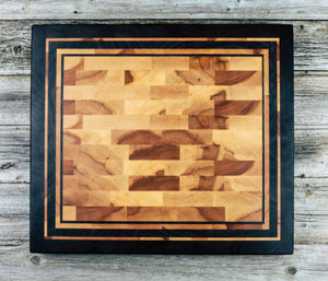 Maple and Walnut #50 - Everwood endgrain, Cutting Boards - End grain butcher block cutting board, Everwood Handcrafts - Everwood Handcrafts