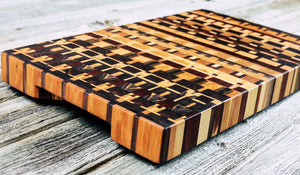 Kaleidoscope #91 - Everwood endgrain, Cutting Boards - End grain butcher block cutting board, Everwood Handcrafts - Everwood Handcrafts