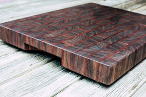 Walnut and Makore Brick Pattern #60 - Everwood endgrain, Cutting Boards - End grain butcher block cutting board, Everwood Handcrafts - Everwood Handcrafts