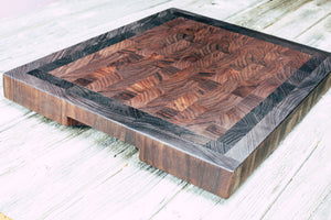 Walnut, Wenge and Peruvian Walnut #51 - Everwood endgrain, Cutting Boards - End grain butcher block cutting board, Everwood Handcrafts - Everwood Handcrafts