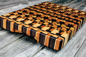 Kaleidoscope #87 - Everwood endgrain, Cutting Boards - End grain butcher block cutting board, Everwood Handcrafts - Everwood Handcrafts