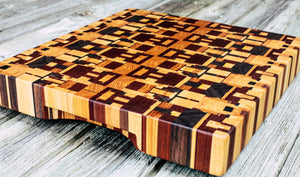 Kaleidoscope #84 - Everwood endgrain, Cutting Boards - End grain butcher block cutting board, Everwood Handcrafts - Everwood Handcrafts