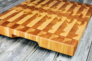 Hickory End Grain Cutting Board #21 - Everwood endgrain, Cutting Boards - End grain butcher block cutting board, Everwood Handcrafts - Everwood Handcrafts