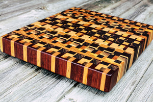 Kaleidoscope #85 - Everwood endgrain, Cutting Boards - End grain butcher block cutting board, Everwood Handcrafts - Everwood Handcrafts