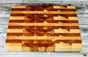 Maple and Cherry #120 - Everwood endgrain, Cutting Boards - End grain butcher block cutting board, Everwood Handcrafts - Everwood Handcrafts