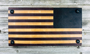 American Flag End Grain Board #71 - Everwood endgrain, Cutting Boards - End grain butcher block cutting board, Everwood Handcrafts - Everwood Handcrafts
