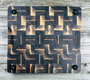 Walnut and Maple. #6 - Everwood endgrain, Cutting Boards - End grain butcher block cutting board, Everwood Handcrafts - Everwood Handcrafts