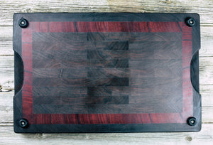 Walnut, Wenge and Padauk. #34 - Everwood endgrain, Cutting Boards - End grain butcher block cutting board, Everwood Handcrafts - Everwood Handcrafts