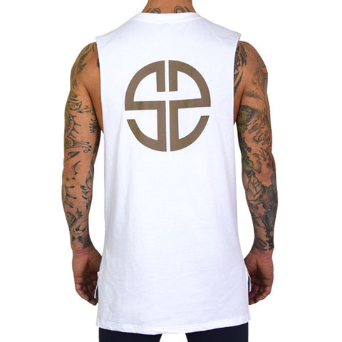 SWLN Impossible | White Muscle Tee