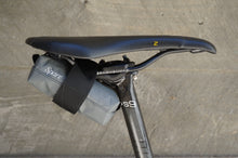 Bicycle seat bag for under the bike saddle.