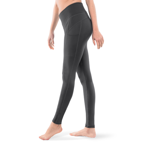 LEGGINGS • ACTIVE GREY • 3-POCKET YOGA PANTS