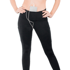 LEGGINGS • BLACK • 3-POCKET YOGA PANTS
