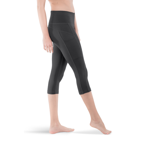 CAPRI • ACTIVE GREY • 3-POCKET YOGA PANTS
