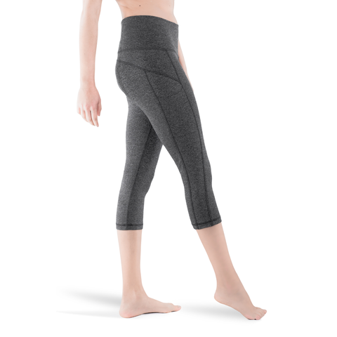 CAPRI • CHARCOAL • 3-POCKET YOGA PANTS
