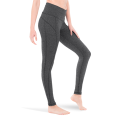 LEGGINGS • CHARCOAL • 3-POCKET YOGA PANTS