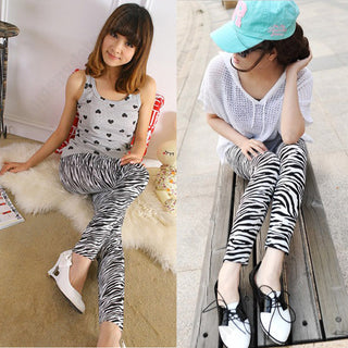 Classic High Quality Autumn Zebra Leggings Pants