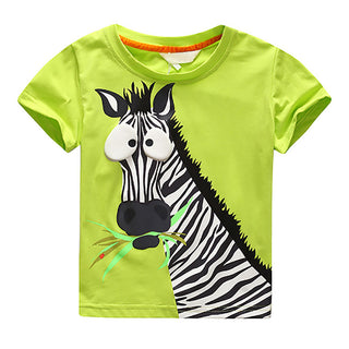 T-shirt for Children Boy Tee Zebra Pattern