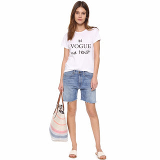 Women In Vogue We Trust T Shirt White Casual