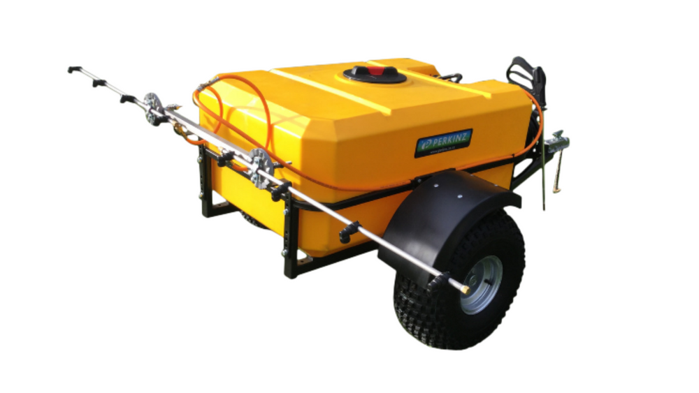 Load image into Gallery viewer, 400 litre Perkinz Sprayer Trailer with DEK pump.(and Spray Boom)