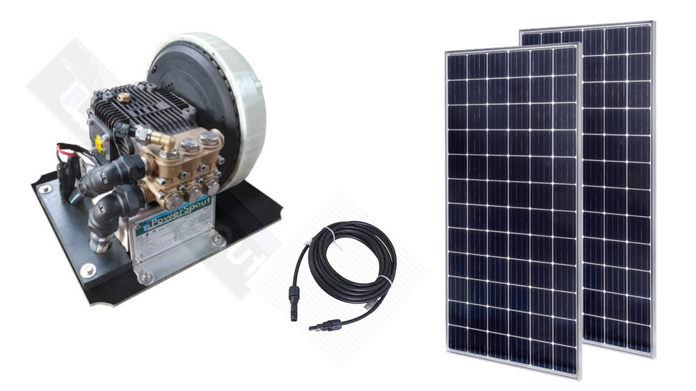 Triplex Solar Water Pump + 560W Panels.