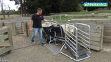 The Perkinz sheep-handler in action as an air-assisted unit.