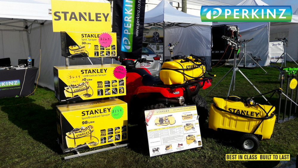 The Stanley Sprayers on the Perkinz display at Mystery Creek Field days.