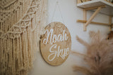 30 cm personalised name plaque\wall hanging - VINE