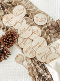 Wooden IVF milestone card discs - Classic