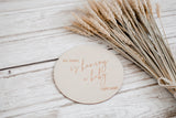 Single wooden discs - Classic - Various wording