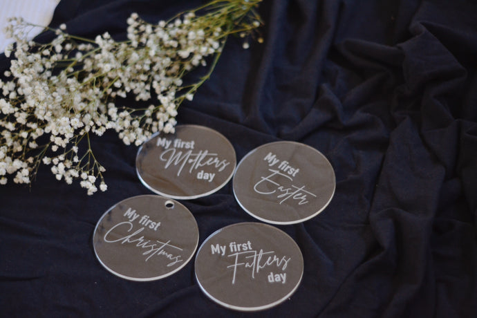 Clear acrylic special calendar date discs - Classic