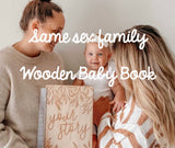 SAME-SEX FAMILY 'YOUR STORY' - A baby memory book (CUSTOMISED COVER)