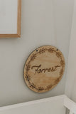 30 cm personalised name plaque\wall hanging - WREATH