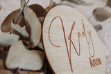 13.5 cm personalised name plaque\wall hanging - CLASSIC