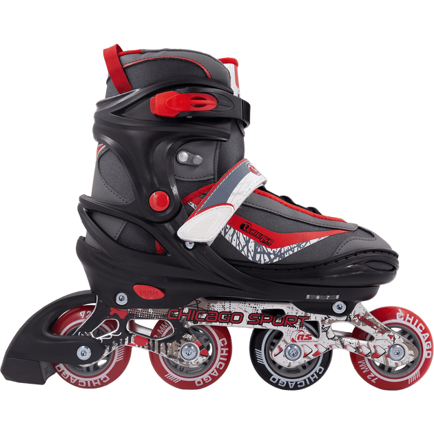 Chicago Boys Adjustable Inline Skates black/red