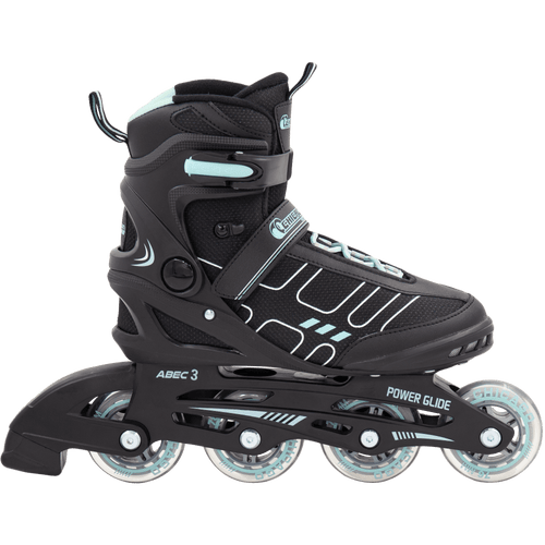 Chicago Adult Inline Skates Women's Black/Agua - NSG Products