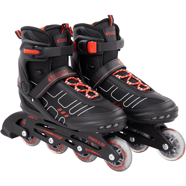 Chicago Adult Inline Skates Men's Black/Red - NSG Products