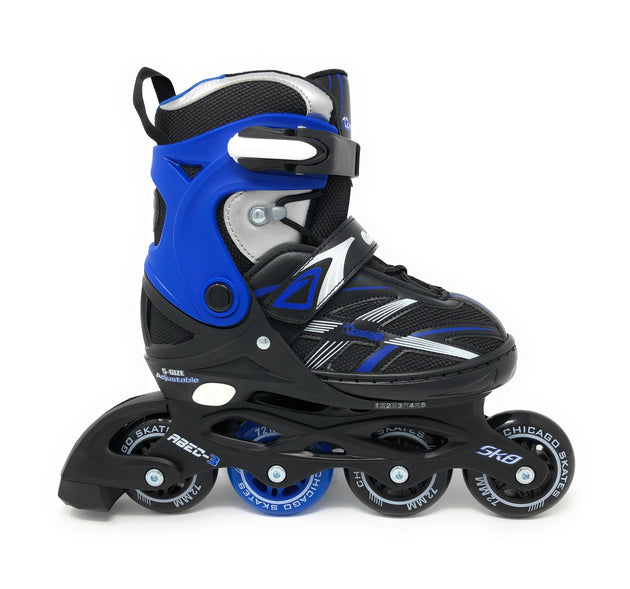 Chicago 2020 New Boys 5 Size Adjustable Inline Skates - NSG Products