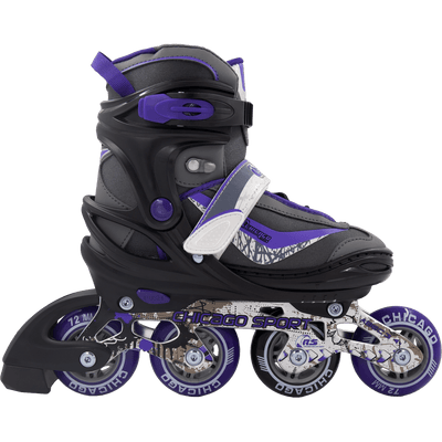 Chicago Girls Adjustable Inline Skates grey/purple - NSG Products