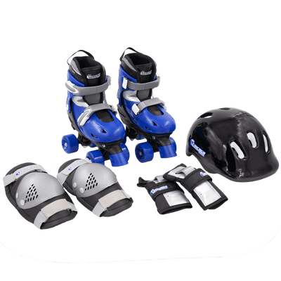 Chicago Boys Quad Roller Skate Set - Black/Blue - NSG Products