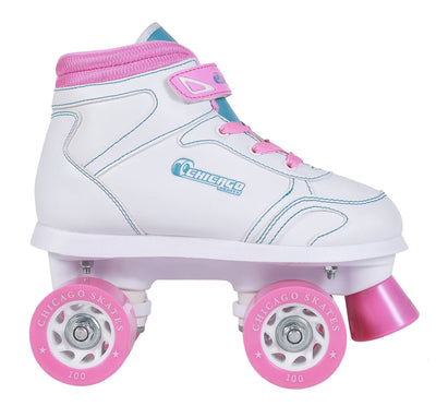 Chicago Girl's Sidewalk Skate - White - NSG Products