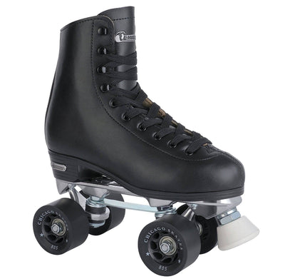 Chicago Men's Deluxe Leather Rink Skate - Black - NSG Products