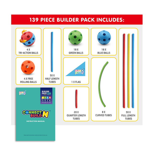Eezy Peezy Connect N Build -  139 Piece Set - NSG Products