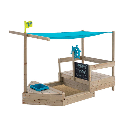 TP Toys Ahoy Ship - Sand Box with Cover Play Boat - NSG Products