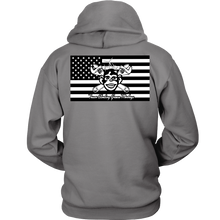 American Grease Monkey Hoodie (B&W) 9 oz