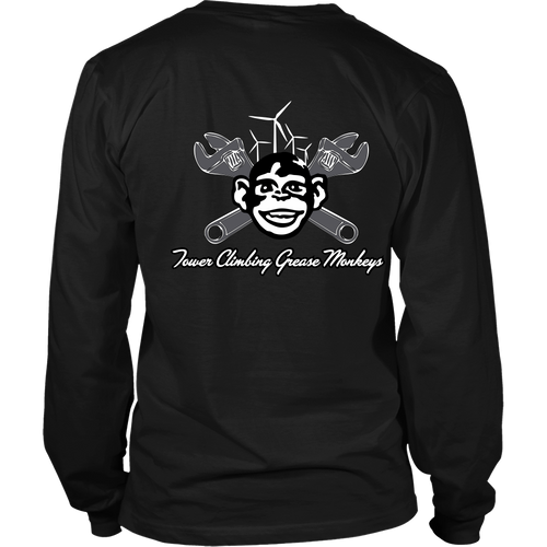 Grease Monkey Long Sleeve Shirt B&W
